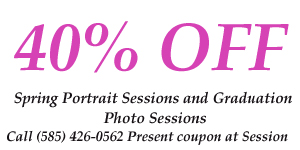 40% off coupon for spring photo session/ graduation photo session